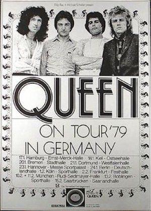 Queen 1979 poster
