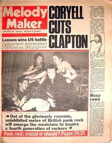 1976年8月のメロディ・メーカーのパンク特集「素晴らしいのか?それともインチキか?」