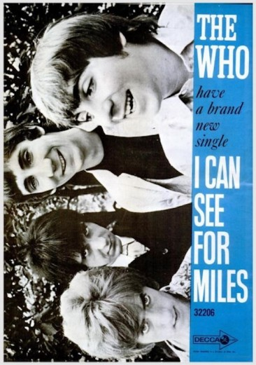 ザ・フーの唯一の全米シングルTOP10ヒット「I Can See For Miles」