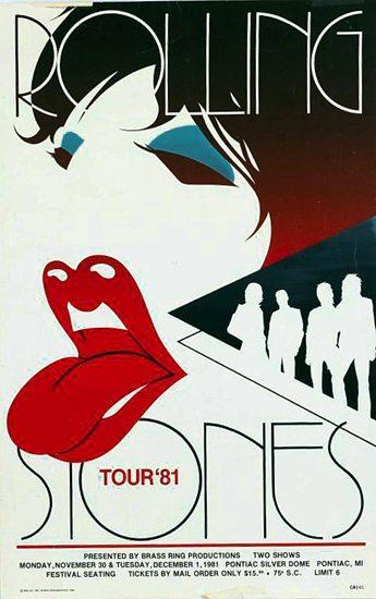 1981 Stones tour poster