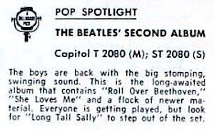 Beatles Second Billboard