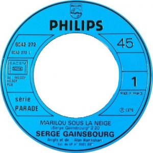 Serge Gainsbourg Marilou Sous La Neige Label - edit
