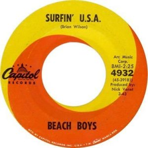 Beach Boys - Surfin' USA Label