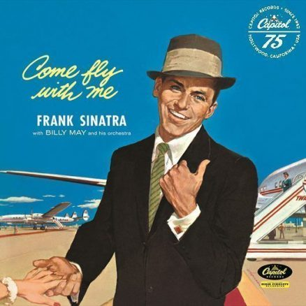 Frank Sinatra Come Fly With Me Album Cover With Capitol Logo - 530