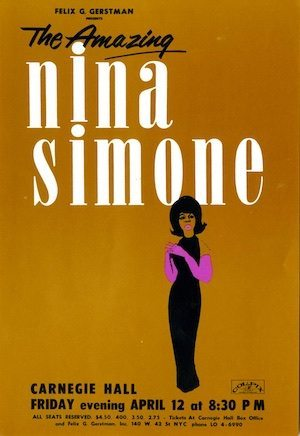 Nina Simone flyer 1963
