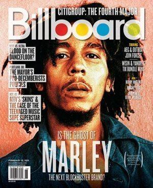 Billboard Bob Marley cover