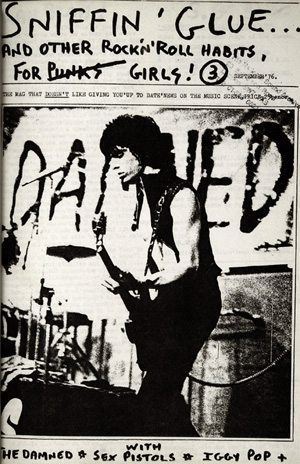Sniffin Glue 3 The Damned Cover