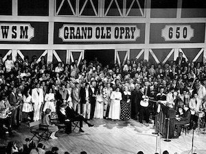 Opry stage bw