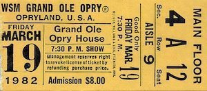 Opry ticket