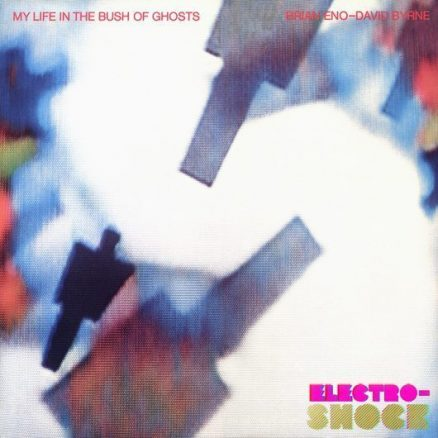 Brian Eno And David Byrne My Life In The Bush Of Ghosts Album Cover with logos