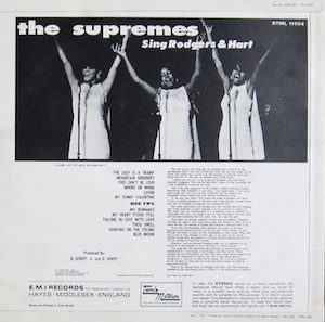 The Supremes Sing Rodgers & Hart back