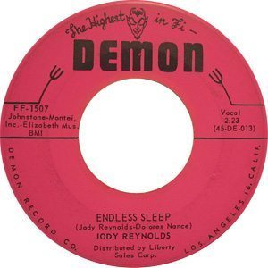 Jody Reynolds Endless Sleep Single - 300