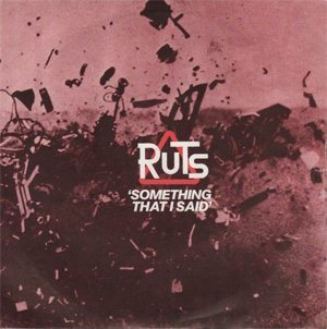 The Ruts Something That I Said Single Cover - 300