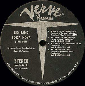 Getz Big Band centre