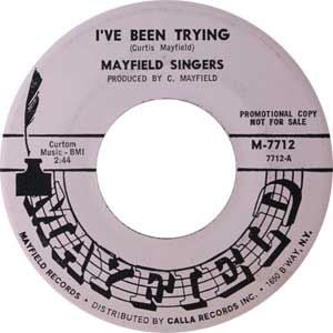 Mayfield Singers Single Label Cover