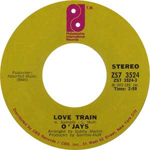 O Jays Love Train Single Label Cover