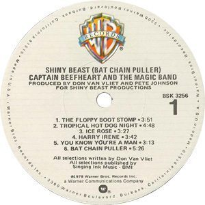 Captain Beefheart Bat Chain Puller Record Label - 300