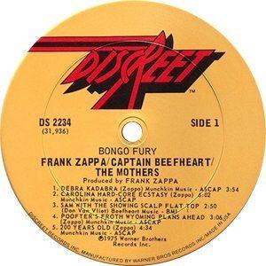 Frank Zappa Bongo Fury Record Label - 300