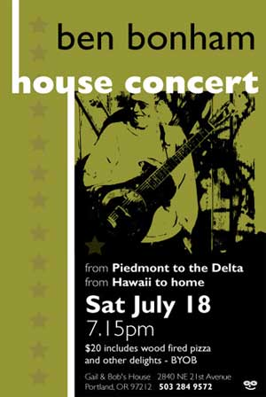 House Concert Poster