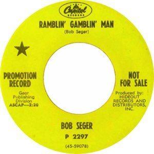 Bob Seger Ramblin Gamblin Man Promo 7 - 300