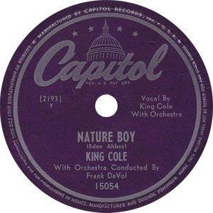 Nat King Cole Nature Boy Single Label - 300
