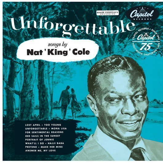 Nat King Cole Unforgettable Album Cover With Logo - 530
