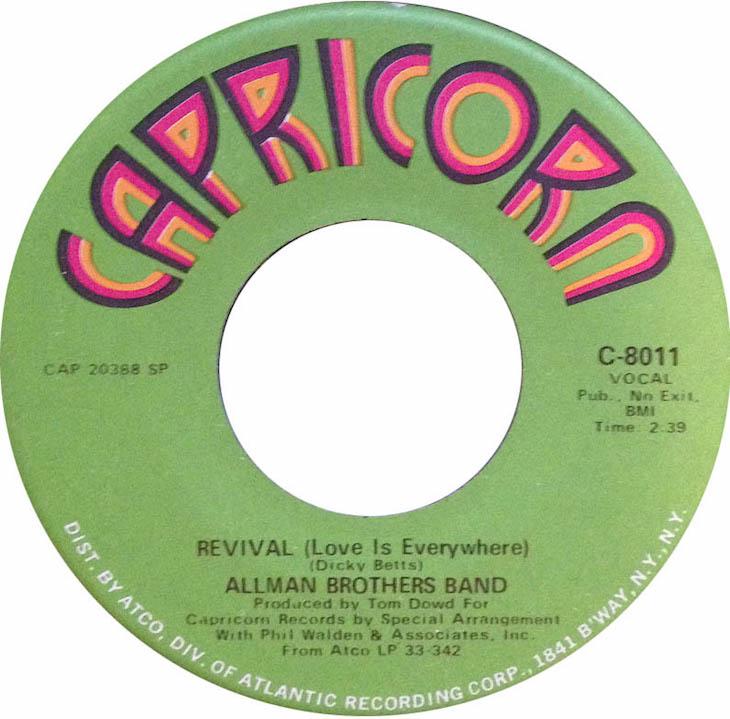 『Idlewild South』の「Revival」からシングル・チャートを賑わせたオールマン・ブラザーズ・バンド
