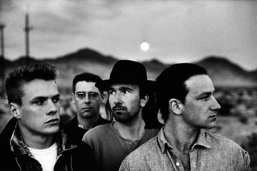 U2 photographed by Anton Corbijn, who took the iconic photo on the front of 'The Joshua Tree'