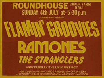 1976年7月4日、ラモーンズ初のロンドン・ライヴ