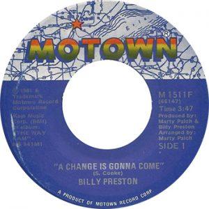 ビリー・プレストンは1981年、モータウン・レーベルから「A Change Is Gonna Come」 を出した