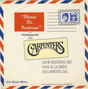 カーペンターズ「Please Mr. Postman」は、曲としては2度目の1位だった