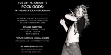 ツェッペリン、ジミヘン、クラプトンらの写真が公開される写真展『Rock Gods: Fifty Years Of Rock』がロスで開催