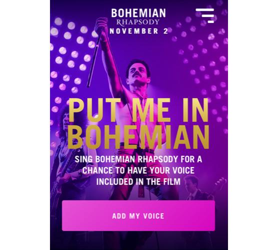 クイーンの伝記映画「ボヘミアン・ラプソディ」に自分の声が使われるキャンペーン実施中