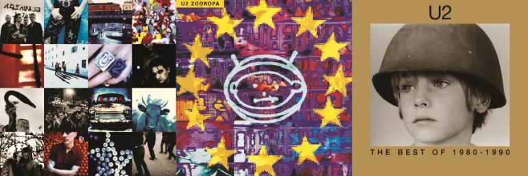U2『Achtung Baby』『Zooropa』『The Best Of 1980 – 1990』の3タイトルがリマスターされ2LP仕様で発売決定