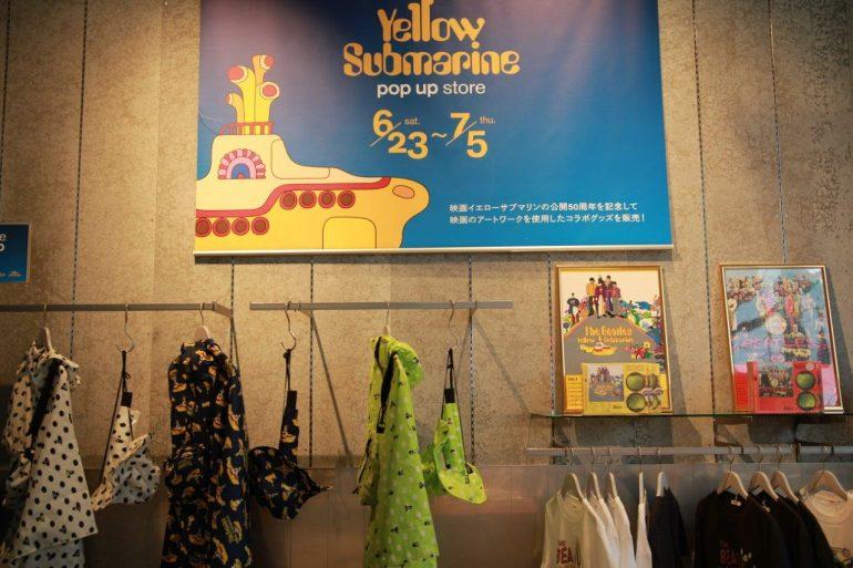 ザ・ビートルズ 映画『イエロー・サブマリン』公開50周年記念ポップアップ・ショップ渋谷にオープン、7/5まで