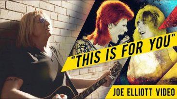 デフ・レパードのジョーが亡き友ミック・ロンソンに捧げるビデオを公開