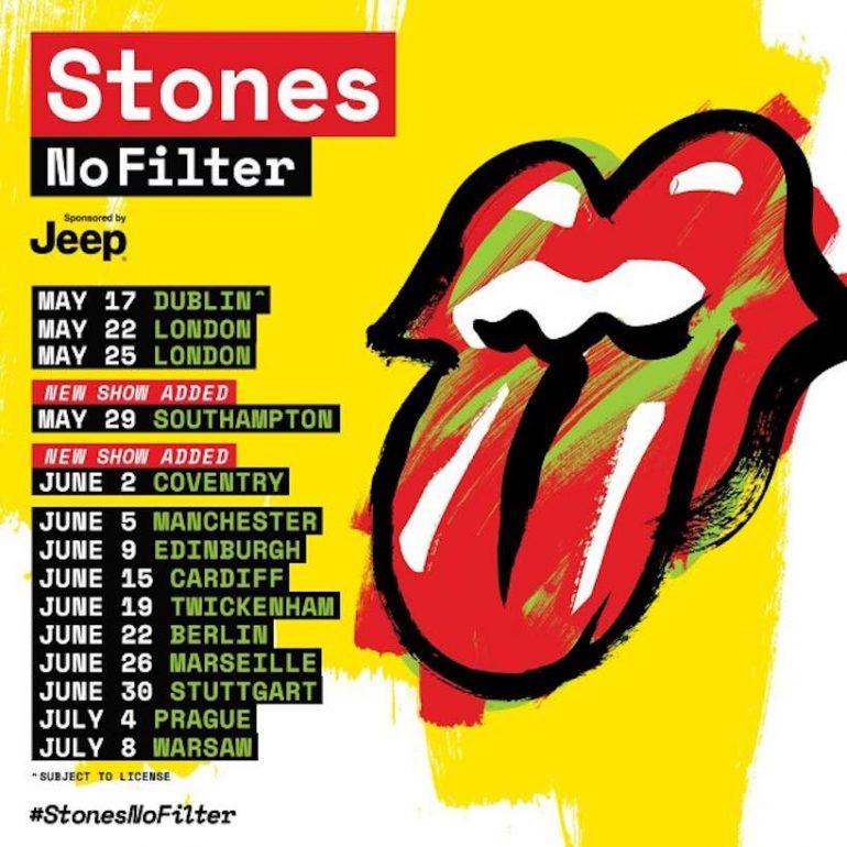 ザ・ローリング・ストーンズ「No Filter」ツアーが総収益265億円を記録