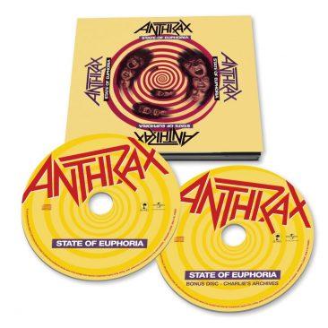 アンスラックス『State Of Euphoria』30周年記念でデラックス盤が発売