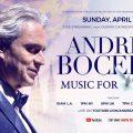 アンドレア・ボチェッリ、復活祭にミラノの大聖堂で無観客コンサートを実施、YouTubeで生配信決定